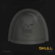 Download 3D printing designs Skull Space Marine Pauldron Pack, hpbotha