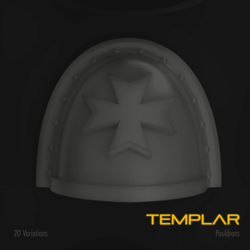 Download STL file Templar Space Marine Pauldron Pack, hpbotha