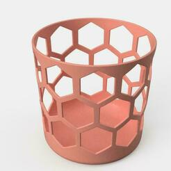 rose.jpg Download STL file pencil cup • 3D print object, benj2365