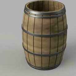 tonneau.jpg Télécharger fichier STL Pot a crayon tonneau  !  • Plan à imprimer en 3D, benj2365