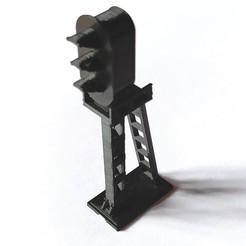 feu ensemble.jpg Download STL file traffic light HO traffic light 1/87 train • Template to 3D print, benj2365