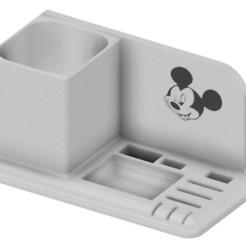 mickey cults.jpg Descargar archivo STL organizador de escritorio mickey usb sd lápiz micro sd • Modelo para imprimir en 3D, benj2365