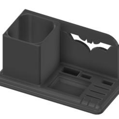 cults org bat 1.jpg Descargar archivo STL organizador de escritorio batman usb sd micro sd lápiz • Diseño para impresión en 3D, benj2365