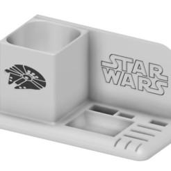 Télécharger modèle 3D organiseur bureau satr wars usb sd micro sd crayon stylo, benj2365