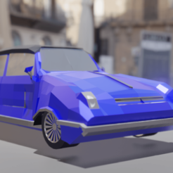 Download free 3D printing files Low Poly Vintage Car, LegendaryAysir