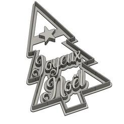 emporte pièces joyeux noel v1.jpg Download STL file Punch Merry Christmas • 3D printable model, dodey_57