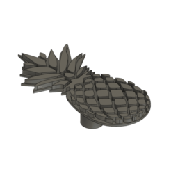 Sans nom2.png Télécharger fichier STL Bouton de porte ananas/door knob • Plan pour imprimante 3D, dodey_57