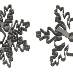 flocon2 v1.jpg Download STL file Snowflake punch x2 • Template to 3D print, dodey_57
