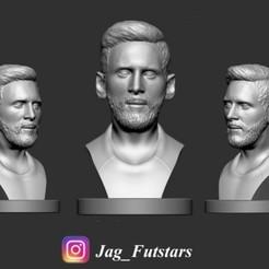 Imprimir en 3D gratis Busto de Lionel Messi - Figura de fútbol, jagfutstars