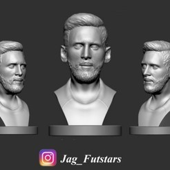 Descargar archivo 3D gratis Busto Lionel Messi - Figura de fútbol, jagfutstars