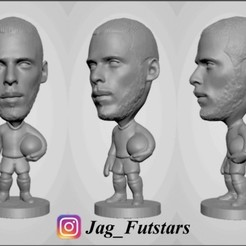 Descargar Modelos 3D para imprimir gratis David De Gea - Manchester United - Figura del fútbol, jagfutstars