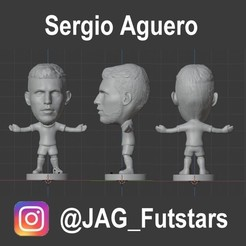 Aguero.jpg Download STL file Sergio Aguero - Manchester City - Soccer Figure • 3D printing model, jagfutstars