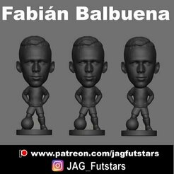 Balbuena.jpg Download STL file Fabián Balbuena - Corinthians - West Ham - Minicraque • 3D print template, jagfutstars