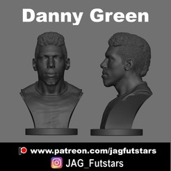 Danny Green.jpg Download STL file Danny Green - Lakers - Bust • 3D printing object, jagfutstars