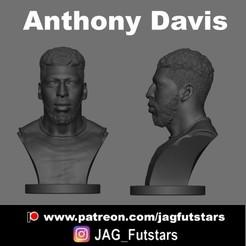 Anthony Davis.jpg Download STL file Anthony Davis - Lakers - Bust • Template to 3D print, jagfutstars