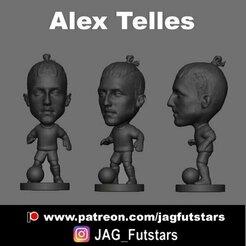 Alex Telles 2020.jpg Download STL file Alex Telles - Soccer STL - Manchester United • 3D printer design, jagfutstars