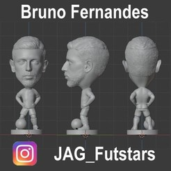 Bruno Fernandes.jpg Download STL file Bruno Fernandes - Manchester United - Soccer STL • 3D printer template, jagfutstars