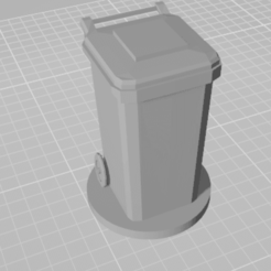 1Untitled.png Télécharger fichier STL Poubelle \ Logo de la poubelle pour le détenteur de la carte de visite • Modèle à imprimer en 3D, ciprian_xro