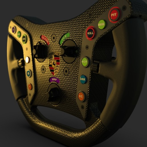 Download free STL file HTEK GT3 Steering Wheel • 3D printer object, HTEK_Simulator_Engineering