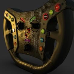 Download free 3D printer files HTEK GT3 Steering Wheel, HTEK_Simulator_Engineering