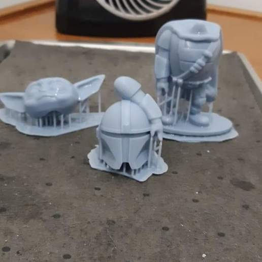 Download 3D printer designs baby yoda mandalorian, jjrocks612
