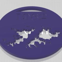 foto1.png Download STL file Falkland Islands Keychain • 3D printer template, Delta3Design
