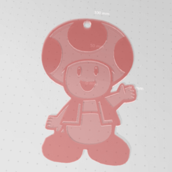 toad.png Download free STL file Toad sm keychain • Model to 3D print, Delta3Design