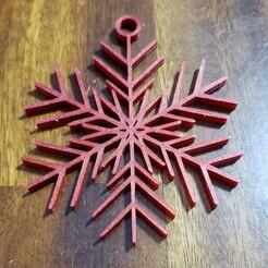 20201228_172056.jpg Download STL file 35 Random Snowflakes With Hoops • 3D printing design, evanrekerpersonal