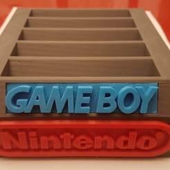 20200115_204754.jpg Download STL file GAMEBOY NINTENDO game display case holder • 3D printer model, Tigrenoir12