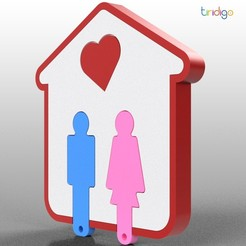 1.jpg Télécharger fichier STL gratuit HAPPY HOUSE KEY HOLDER • Objet pour imprimante 3D, tiridigo