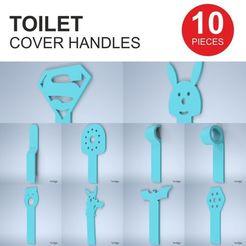 AIO.jpg Download STL file TOILET COVER HANDLES • 3D printable model, tiridigo