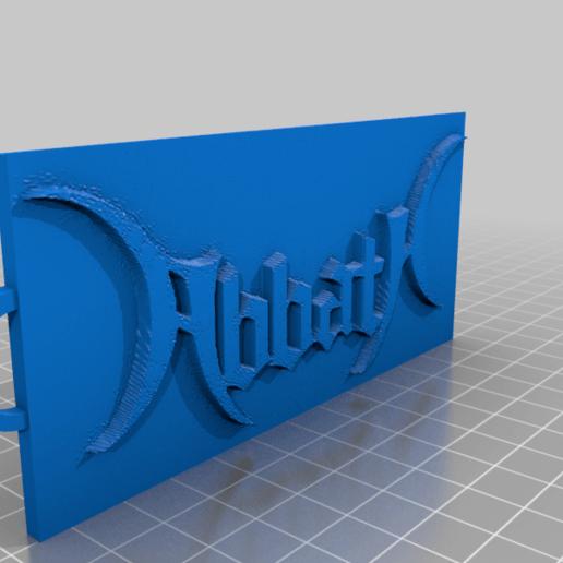 Télécharger fichier OBJ gratuit Porte-clés ABBATH • Design à imprimer en 3D, evilchart