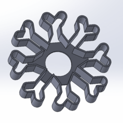 Screenshot_108.png Download free STL file Cookie Cutter | Snowflake • 3D printer template, LayBraid