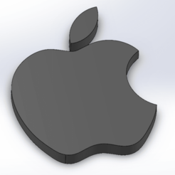 Screenshot_2.png Download STL file Apple logo rounded • 3D printable design, LayBraid