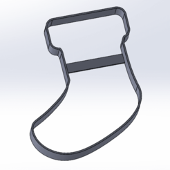 Screenshot_109.png Download free STL file Cookie Cutter | Christmas sock • Object to 3D print, LayBraid