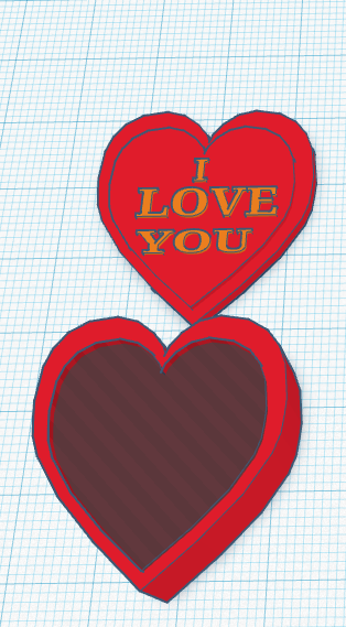 """Care.PNG Download free STL file I LOVE YOU"""" Heart Box • 3D print object, Painzone"""