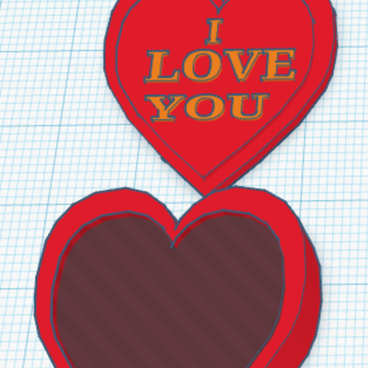 """Download free 3D printing designs I LOVE YOU"""" Heart Box, Painzone"""