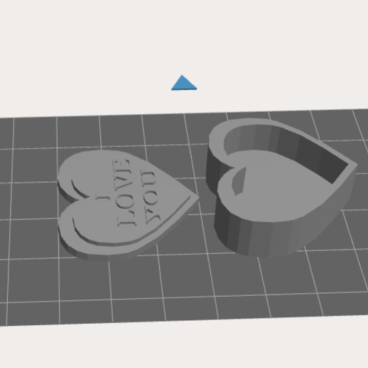 """Captre.PNG Download free STL file I LOVE YOU"""" Heart Box • 3D print object, Painzone"""