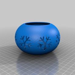 Download free STL file Christmas Tea Light Candle Holder • 3D print design, TresaRyGoul