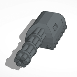 Download free STL file Gatling machine gun • Design to 3D print, mrfrost54