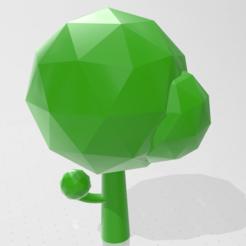 Descargar STL gratis Tree Low-poly, moz3d