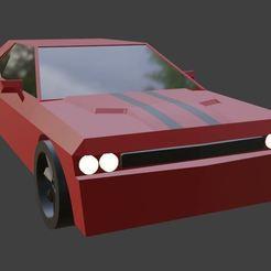 Télécharger fichier STL gratuit Dodge Challenger, moz3d