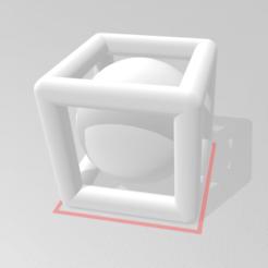 Imprimir en 3D gratis Esfera encerrada en un cubo, moz3d