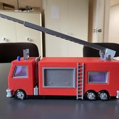 Download free 3D printer designs Fire truck, pashollner
