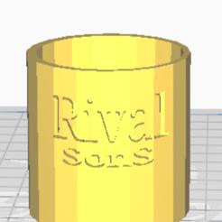 Download free 3D printer designs bougeoir Rival Sons , gabrielstruyve