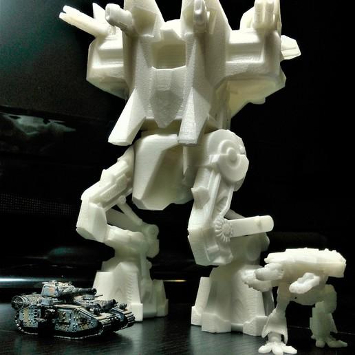 Download free 3D printer model 6mm Scale Brutus Warstrider, Stroganoff