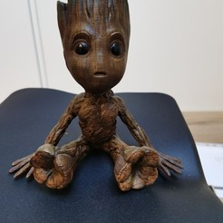 Download free 3D printing models Groot Bust Sculpture, schaussy