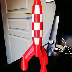 Download free 3D printer designs Tintin Rocket (Tintin Rocket), mekapixel