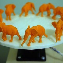 Descargar diseños 3D gratis Zoótropo 3D del Elefante Caminante, 3dimka