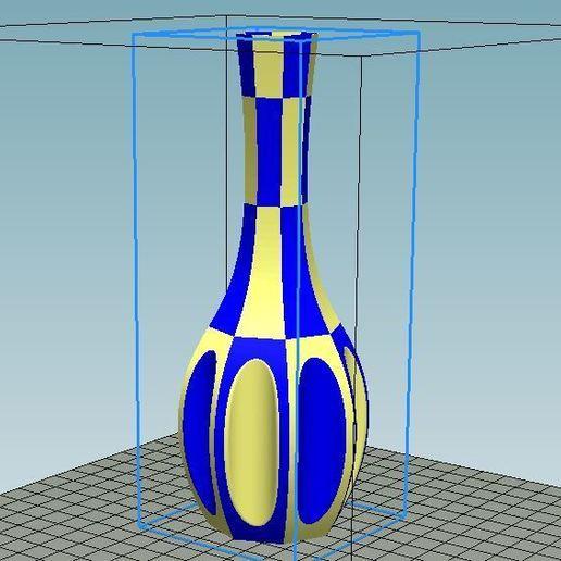 Télécharger objet 3D gratuit Vase Pissenlit double couleur remixé, 3dimka